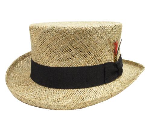 帽子 ストロー トップハット ニューヨークハット New York Hat #1050 Sea Grass Top Hat Natural 紳士 メンズ レディース ギフト
