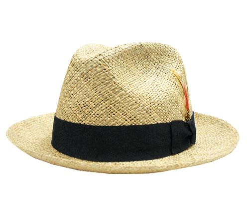 ニューヨークハット 帽子 麦わら ストロー 中折れ New York Hat 1082 Sea Grass Fedora Natural 紳士 メンズ レディース 春夏 ギフト