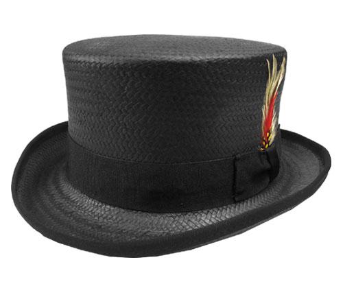 New York Hat ニューヨーク ハット #2203 Toyo Top Hat Black 帽子 ストロー メンズ レディース 男女兼用 ギフト 紳士 結婚式 フォーマル パーティ