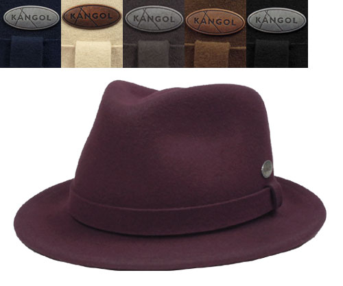 KANGOL TRILBY ANGOL LITEFELT HIRO light felt Hilo Trilby Wine Atlantis Sand  D.grey Tobacco Black felt Hat casual simple luxury UV prevention American  Hat ... 90882b3d4