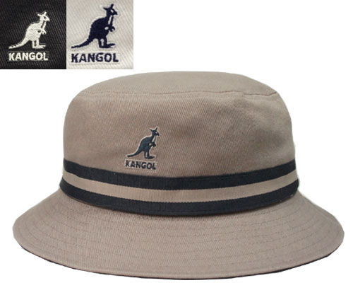 KANGOL STRIPE LAHINCH KANGOL stripe Lahinch Grey Black White bucket Hat  sahari Hat Safari Hat striped UV prevention Hat mens Womens unisex e98ea9f485cd