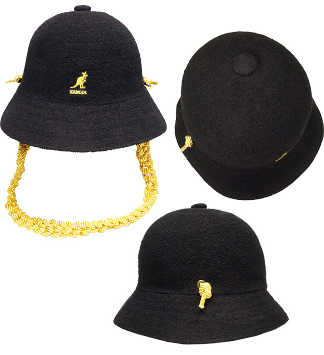 KANGOL Knit chain Casual perception goal knit chain casual Black street ultraviolet rays preventive hat men gap Dis man and woman combined use
