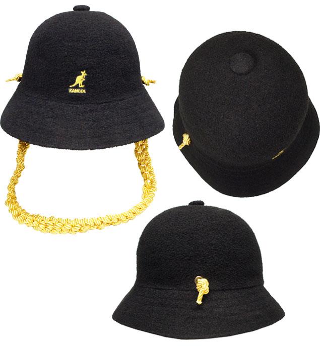 KANGOL Knit chain Casual罐子球门编织物链子休闲Black街道紫外线预防帽子人分歧D男女兼用