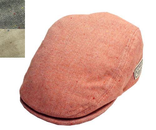 KANGOL UNION CAP カンゴール ユニオンキャップ Cardinal Black Natural カーディナル ブラック ナチュラル 黒 赤 白 帽子 ヘリンボーン カジュアル ハンチング メンズ レディース 男女兼用 あす楽