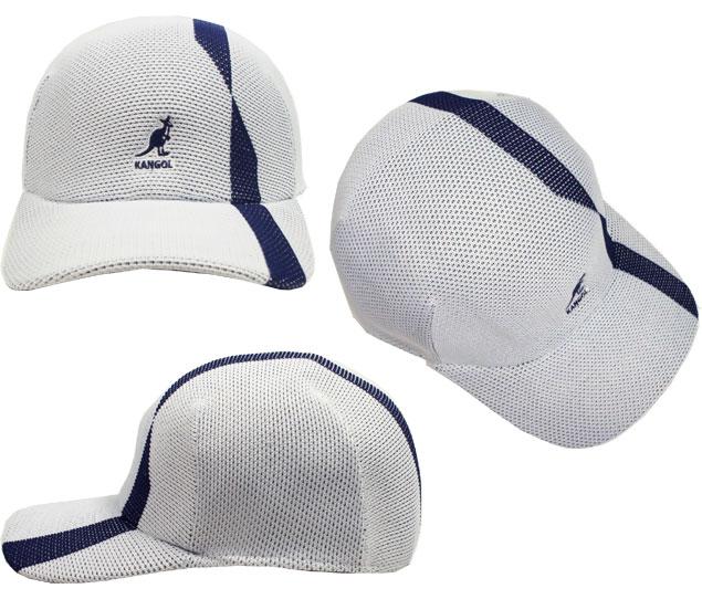 fd2386d53 KANGOL Split Stripe Space Cap KANGOL Cap split Strip pace White Black mesh  Hat Cap baseball caps mens Womens unisex