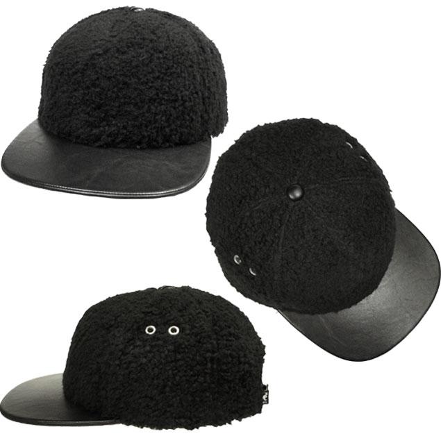 prast-inc  KANGOL-KANGOL Faux Sherpa Links Black Natural Hat Cap ... dd80be94d5d