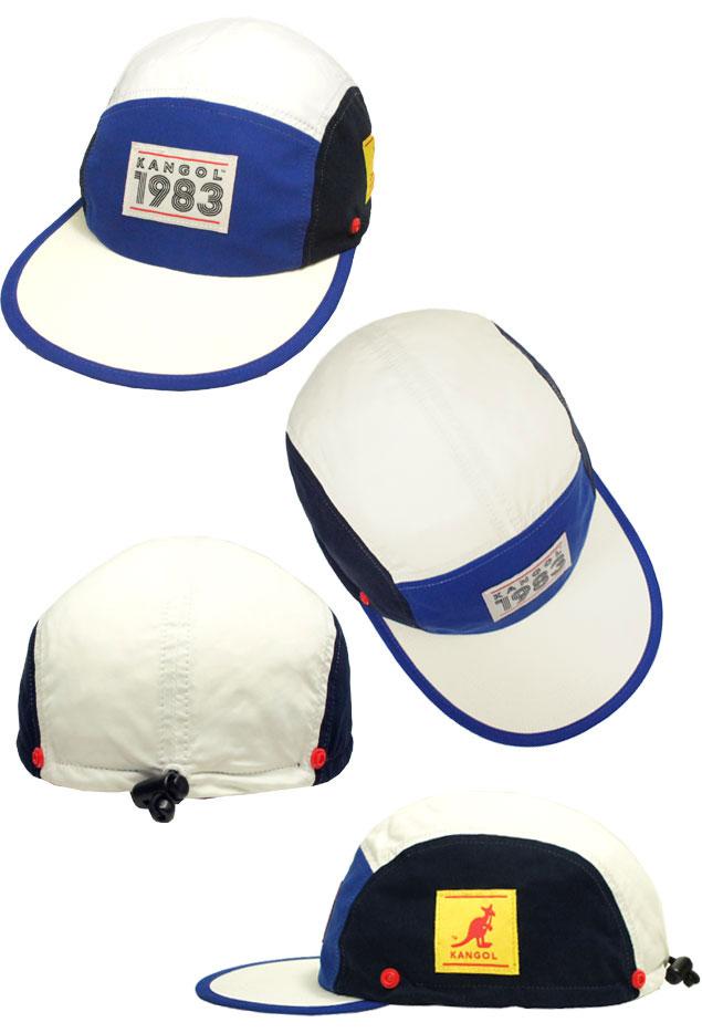 d96ea40c005c5 prast-inc  KANGOL 1983 Hero Sun Hat perception goal Navy Goldie hat ...