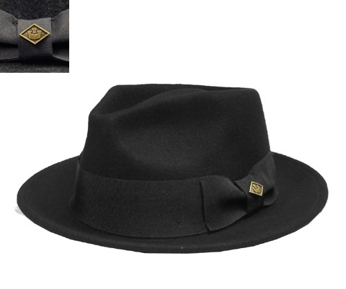 2e755fe565 Goorin Brothers Guerin brothers Smokey Smokey Black Gray Hat Hat felt Hat  collar-length spit wide turu gentleman ladies mens Womens unisex