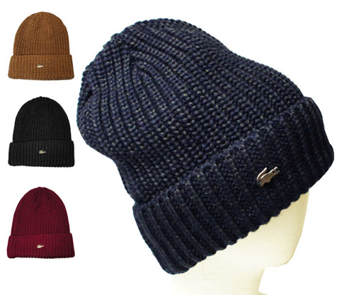 LACOSTE Lacoste knit Cap L6302 Navy Blue Camel black wine knit hat knit  winter men women men women unisex 5470e51276e