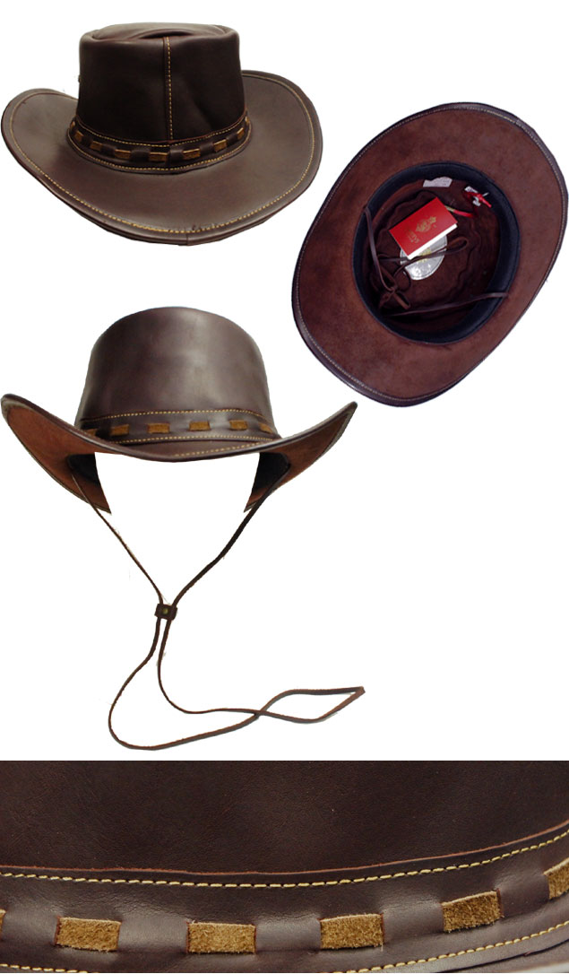 8f2b7f39ab643b ... CHRISTYS LONDON Christie's London 25071 gents leather luxury LEATHER COWBOY  cowboy hat Hat tea made in
