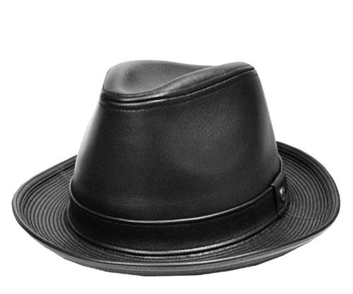 DAKS ダックス D3526 ラムレザー中折れハット 黒 帽子 中折れ レザー 羊革 ラムレザー 高級 紳士 婦人 メンズ レディース 男女兼用 ギフト あす楽