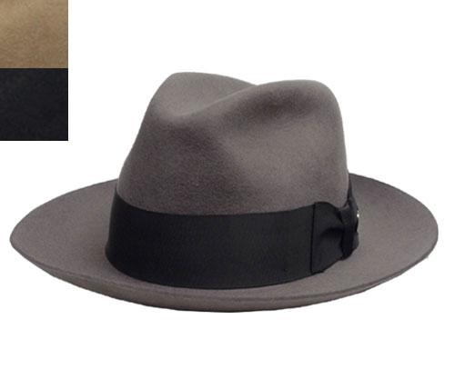 帽子 ステットソン STETSON ST126 TEMPLE WOOL マニッシュハット チャコールグレー キャメル 黒 USA 高級 日よけ メンズ レディース