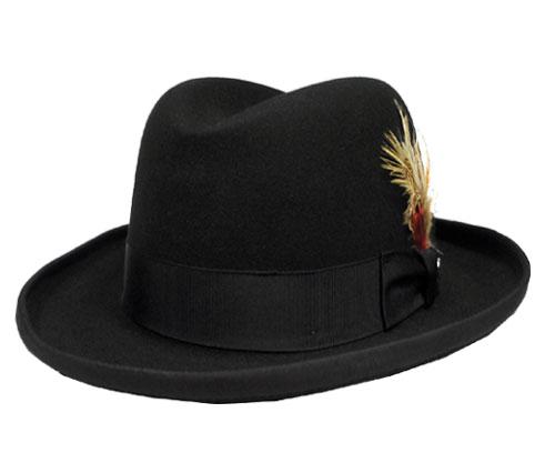 帽子 ステットソン STETSON ST118 HOMBURG WOOL ホンブルグハット 黒 USA 高級 日よけ メンズ レディース