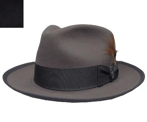 帽子 ステットソン STETSON ST159 WHIPPET マニッシュハット チャコールグレー 黒 ビーバー USA 高級 日よけ メンズ レディース
