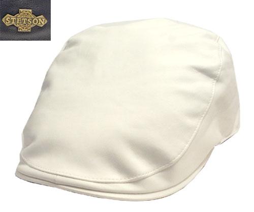 帽子 ステットソン STETSON SE028 ハンチング レザー 羊革 紺 白 日本製 高級 メンズ レディース
