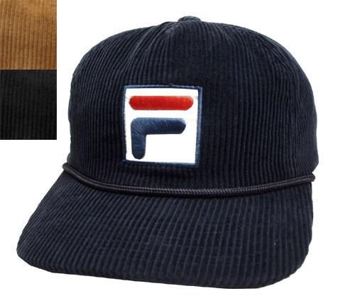 FILA Fila FLS CORDUROY 5P SNAP BACK NAVY BLACK BEIGE baseball cap corduroy cap  hat men gap Dis man and woman combined use ae72c9ccb23