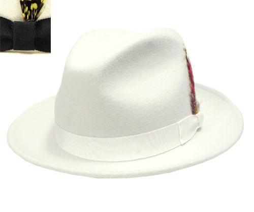 New York Hat New York Hat 5319 The Fedora (FEDORA LITE FELT) the Fedora  White white note quantity limited hats caps Hat men men women b18cc02246b