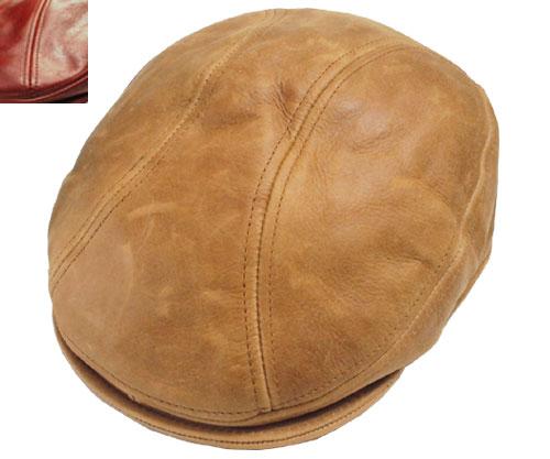 New York Hat ニューヨークハット 9214 vintage leather 1900 ヴィンテージ レザー 1900 Brandy Rust 帽子 ハット ビンテージ 革 ランバスキン 紳士 婦人 メンズ レディース 男女兼用 あす楽