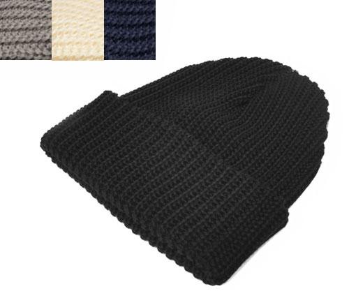 NEW YORK HAT(ニューヨークハット)ニットキャップ 4528 Cotton Chunky Cuff コットン チャンキーカフ Black Grey Natural Navy