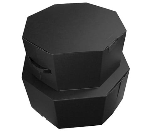 帽子の保存やラッピングケースなどにもおすすめ Hat Cace ハットケース 八角箱 ブラック 帽子 保管 収納 贈り物 ギフト 激安価格と即納で通信販売 プレゼント 帽子ケース 希少