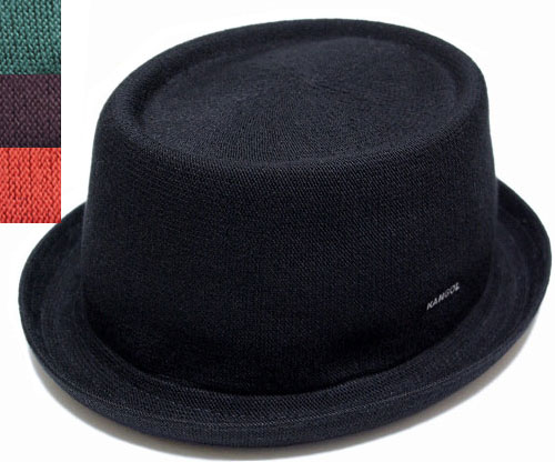 KANGOL KANGOL Hat pork pie Hat MOWBRAY BAMBOO bamboo Mowbray Black mesh mens  Womens 10e64cb9060e