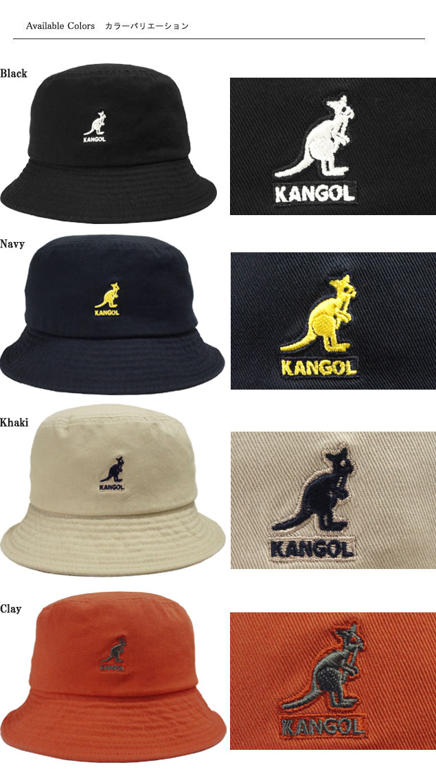 Perception goal KANGOL Washed Bucket Black Navy Khaki Clay black dark blue  beige orange casual strike Lee Tosa tension ultraviolet rays preventive hat  men ... d9f0808a5ca