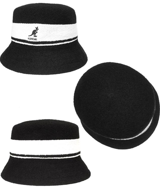 13ed12c7230 prast-inc  Perception goal KANGOL Bermuda Stripe Bucket BLACK NAVY ...