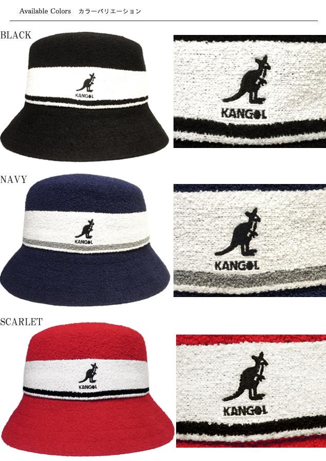 1f4e873fd Perception goal KANGOL Bermuda Stripe Bucket BLACK NAVY SCARLET stripe  street ultraviolet rays preventive pail hat men gap Dis man and woman  combined ...