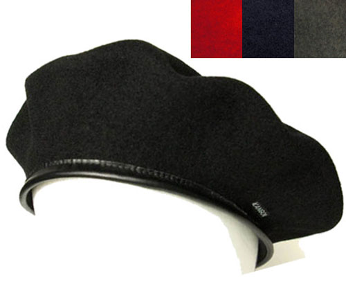 2094ed83933b5 KANGOL KANGOL Hat Cap beret Hat WOOL MONTY wool Monty Black Dk.Blue Red  headgear mens Womens unisex