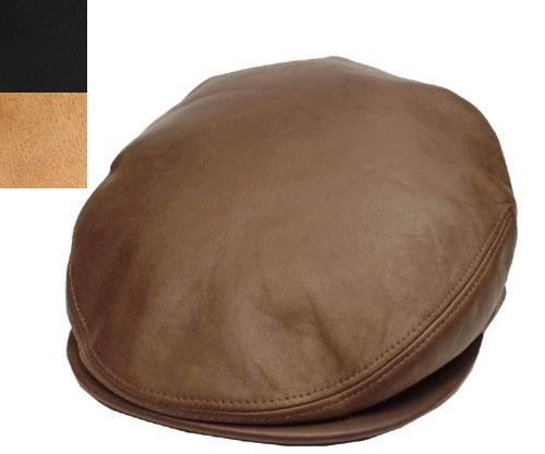 KANGOL LEATHER CAP カンゴール レザーキャップ Tobacco Black Tan ハンチング レザー イタリア製 メンズ レディース 男女兼用 あす楽