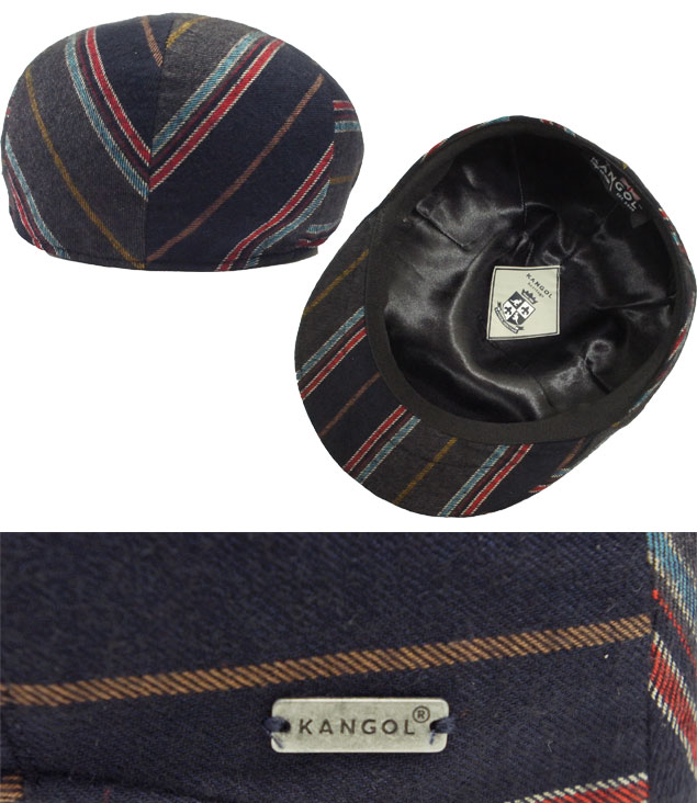 faddd195b63 Stripe navy hunting cap men gap Dis man and woman combined use made in  perception goal KANGOL Tweed Milano Cap COLLEGE STRIPE Italy