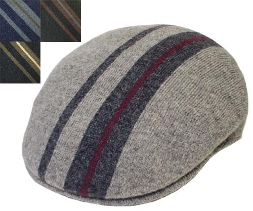 b0053c82 KANGOL perception goal Identity Stripe 504 FLANNEL NAVY BLACK HUNTER MIX identity  stripe hunting cap men ...