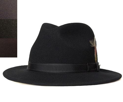 【送料無料】Bailey(ベイリー) [Hollywood Series] 帽子 フェルトハット #7008 FAIRBANKS Black Grey Dark-Olive Brown アメリカ製