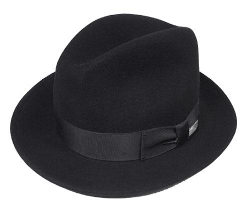 ベイリー Bailey #7034 Blixen 188-154213 Black ベイリー ブリクセン フェルトハット 帽子 中折れ アメリカ製 高級 紳士 婦人 メンズ レディース 送料無料