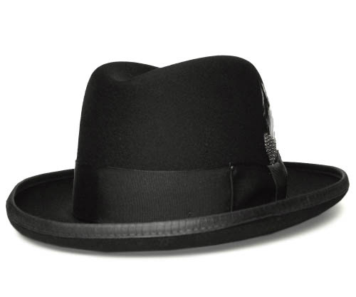 帽子 フェルトハット 送料無料 ベイリー Bailey Hollywood Series 3817 GODFATHER ゴッドファーザー Black ホンブルグハット 紳士 メンズ