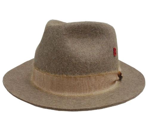 帽子 MY BOB マイボブ RABBIT FUR FELT HAT KNUT ベージュ うさぎ毛 高級 インポート モヘア フェルトハット メンズ レディース