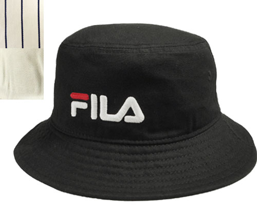 Fila FILA FLS COTTONTWILL BUCKET HAT BLACK STRIPE ASSORT pail hat sports hat  men gap Dis man and woman combined use 7a8154e475af