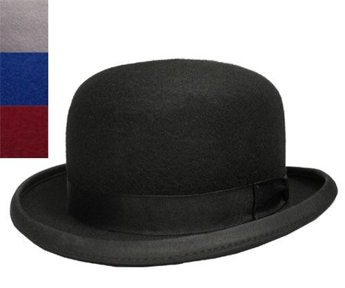 Denton Hats デントンハット 24210 ボーラーハット 黒 ブラック グレー ブルー 赤 フェルト 帽子 紳士 婦人 メンズ レディース 男女兼用 ギフト あす楽