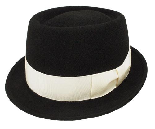 KNOX ノックス ソフトパイ型ハット ブラック 中折れ 帽子 高級 兎毛 フェルト ハット メンズ レディース 男女兼用 あす楽