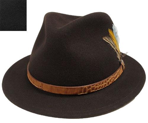 帽子 ステットソン STETSON ST833 VASHON こげ茶 黒 高級 アメリカ製 フェルトハット メンズ レディース