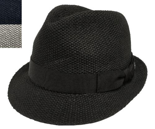帽子 ステットソン STETSON SE196 マニッシュハット 黒紺 グレー 中折れ メンズ レディース