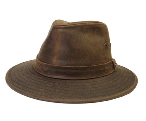 帽子 ステットソン STETSON ST196 Distressed Twill Safari Brown UPF50+ マニッシュ ハット中折れ メンズ レディース
