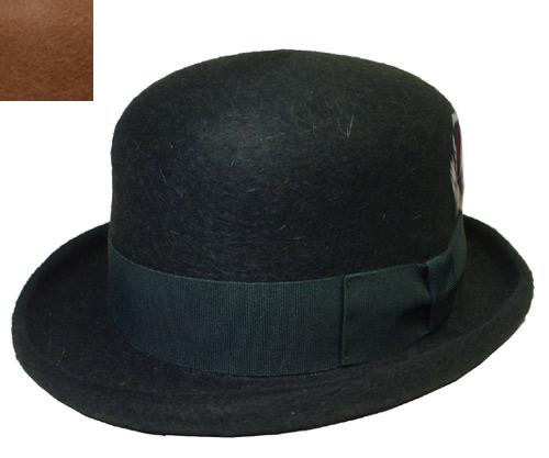レガリス REGALIS RL030 Bowler ボーラーハット オリーブ キャメル モヘア 帽子 イタリア製 高級 紳士 婦人 メンズ レディース 送料無料