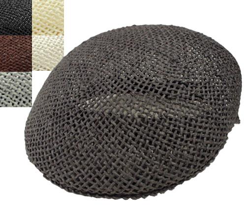 ガリアーノソルバッティ GALLIANO SORBATTI 68069 帽子 ペーパー ハンチング チャコール 黒 茶 グレー キナリ 白 イタリア製 高級 メンズ レディース