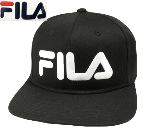 3a8c1190521 Fila FILA FLM TC SNAPBACK CAP BLACK WHITE 175 113 003 baseball cap cap  sports men gap Dis man and woman combined use