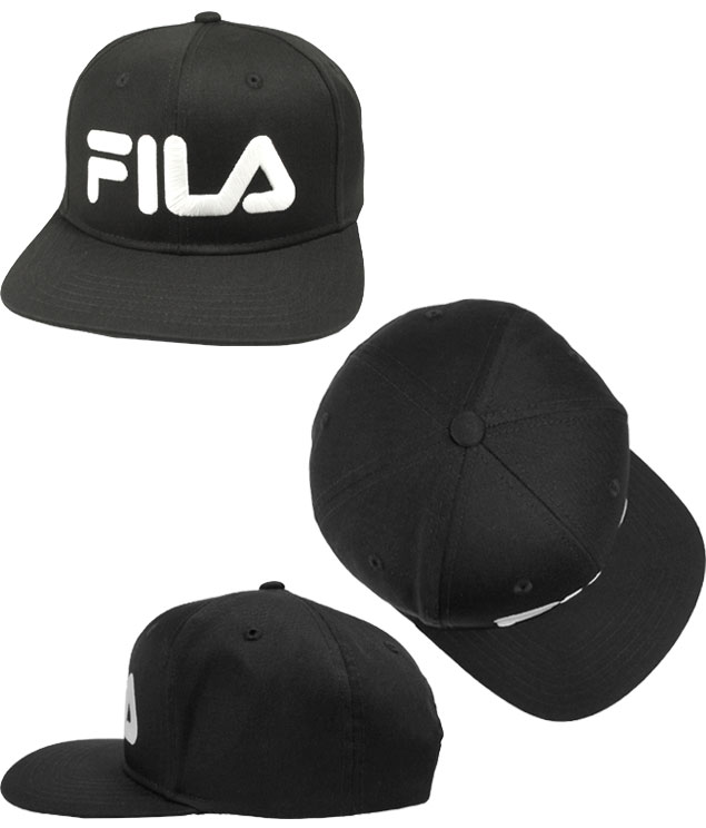 3b2b5d33739 prast-inc  Fila FILA FLM TC SNAPBACK CAP BLACK WHITE 175 113 003 ...