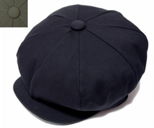 優先配送 オールシーズン使える万能なキャスケットです NEW YORK HAT ニューヨークハット 帽子 キャスケット #6226 APPLE OLIVE 卸直営 レディース メンズ BIG CANVAS BLACK
