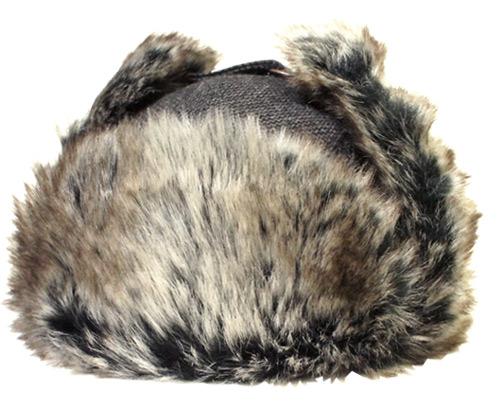 Bailey ベイリー 25141 BRODIE ブローディ トラッパー 防寒帽子 ロシア帽 耳あて付き Black 黒 エスキモー ファー帽子 紳士 婦人 メンズ レディーズ 男女兼用