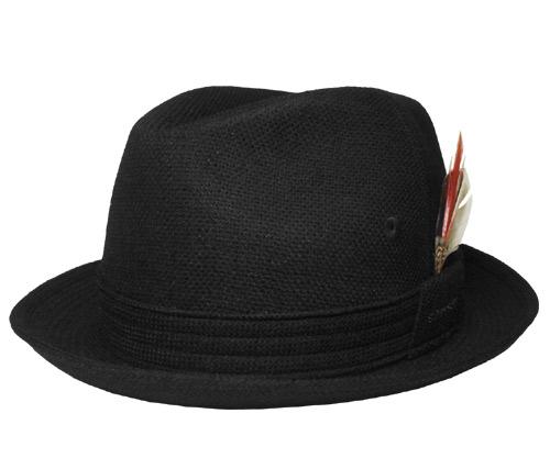 帽子 ステットソン STETSON SE073 ニュースレコー ハット 黒 メンズ レディース