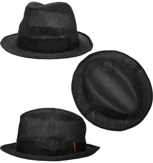 帽子 ステットソン STETSON SE530 中折れハット シマナイ 黒 ベージュ メンズ レディース